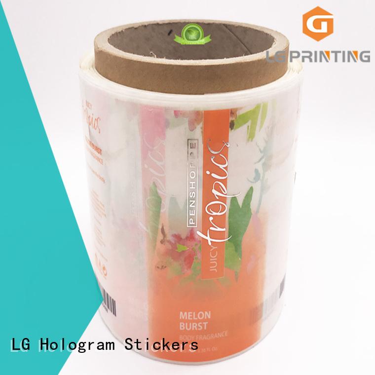 LG Printing bopp vinyl labels manufacturer for wine bottle