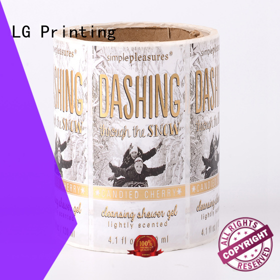 LG Printing printing sticker factory factory for cans