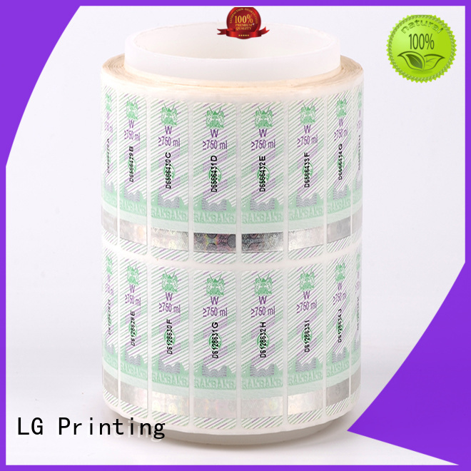 dvd security stickers silver for box LG Printing