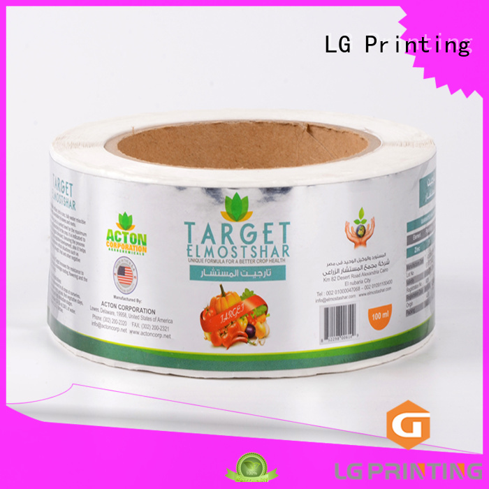 glossy bottle OEM adhesive labels LG Printing