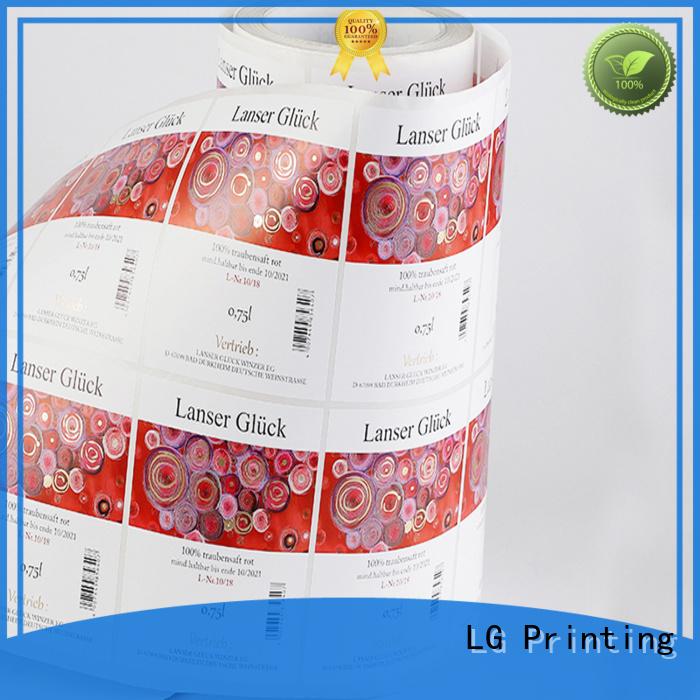 LG Printing red manufacturer for bottle