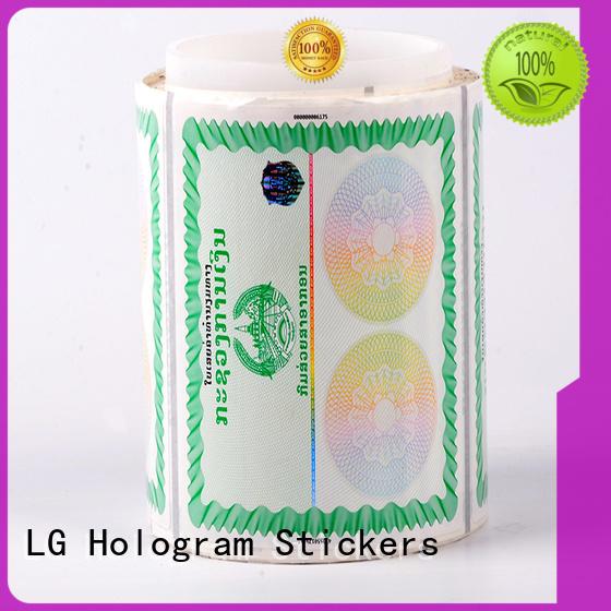 LG Printing randomly 3d hologram printing manufacturer for goods