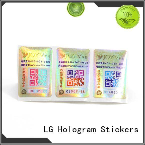 LG Printing Top tamper evident labels for business for bag