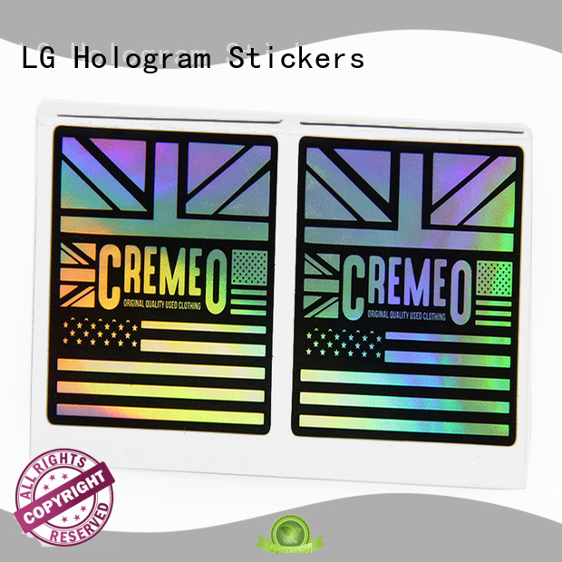 custom holographic labels
