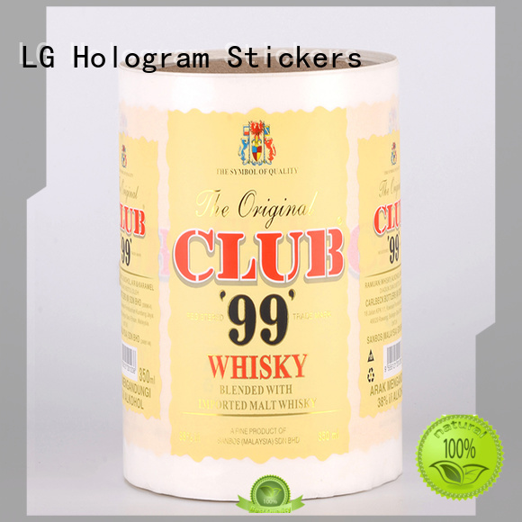 LG Printing quality custom label printing series for cans