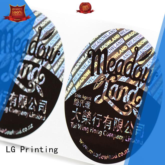 3d hologram sticker void label hologram sticker security LG Printing Brand