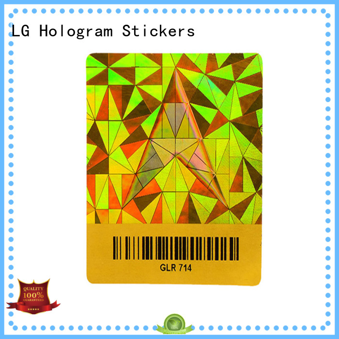 LG Printing scratched parking permit sticker template supplier for door