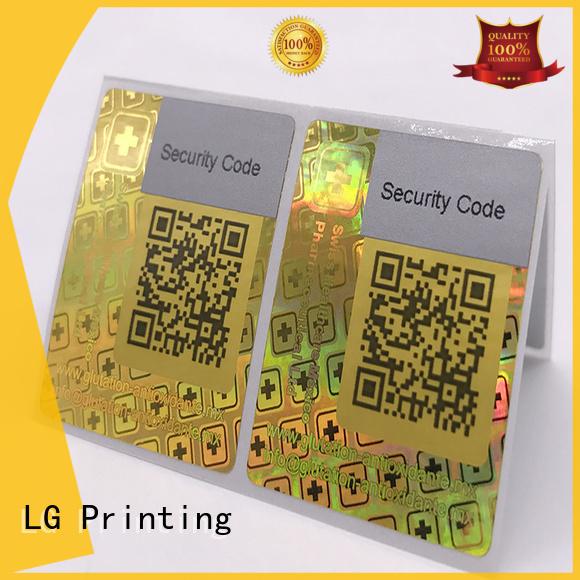 3d hologram sticker qr code triangle hologram sticker customized thickness LG Printing Brand