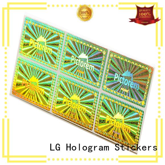 LG Printing golden custom parking stickers logo for refrigerator