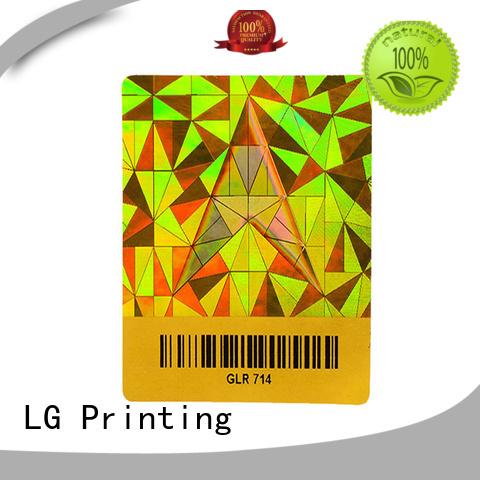 LG Printing colorful hologram sticker printing online manufacturer for door