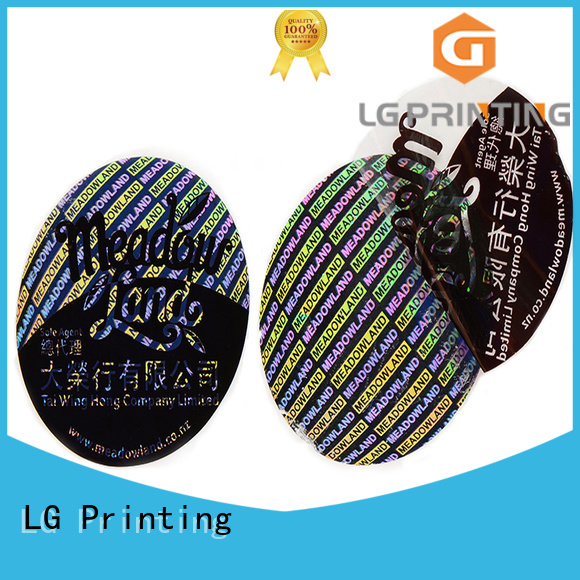 LG Printing selfadhesive holo sticker paper label for door
