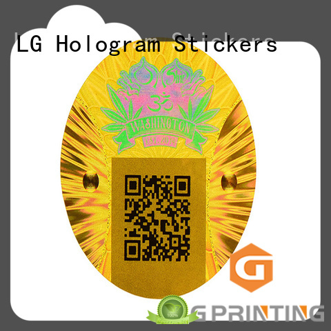 LG Printing one time qr code hologram logo for box