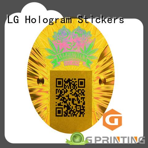 LG Printing one time qr code hologram logo for box