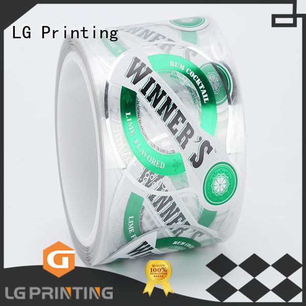 self adhesive label red LG Printing Brand adhesive labels