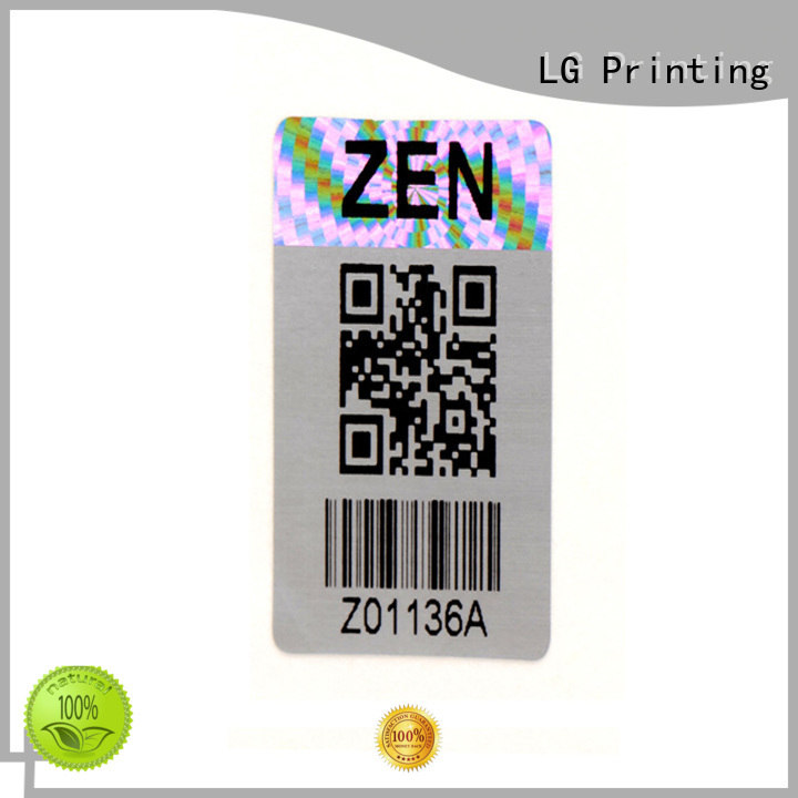 selfadhesive clear holographic sticker paper label for table LG Printing