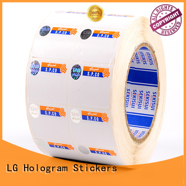 LG Printing sticker clear security stickers factory for bag