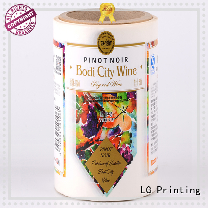 printing custom label printing pvc factory for bottle