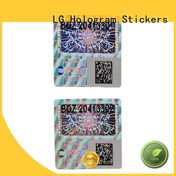 triangle custom shape security hologram sticker LG Printing Brand company