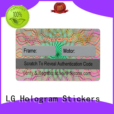 various hologram stickers suppliers scratched supplier for refrigerator