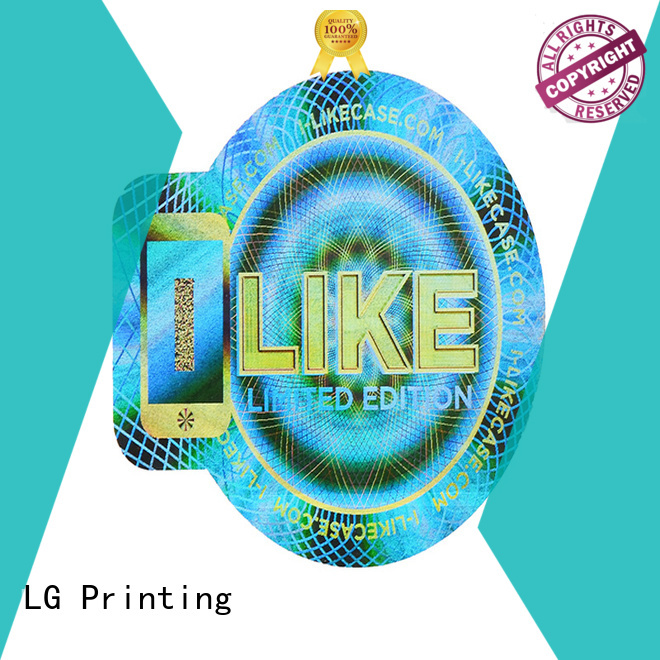 LG Printing void silver hologram sticker supplier for box