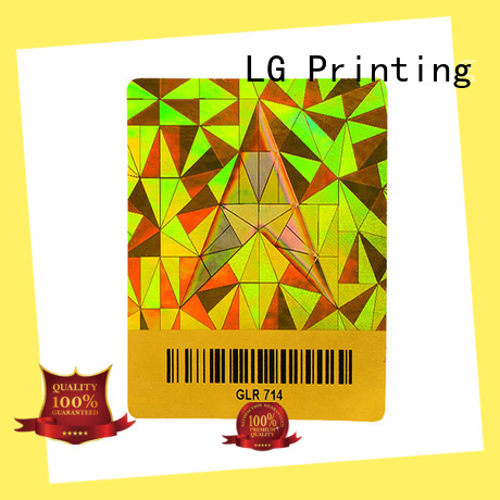 LG Printing various custom holographic vinyl stickers manufacturer for table