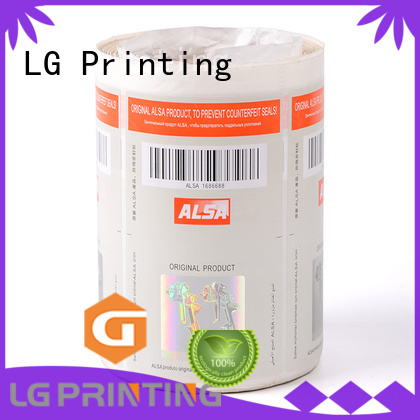 LG Printing Brand counterfeiting positioned security hologram labels