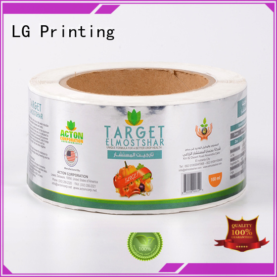 LG Printing silver custom wine labels factory for jars