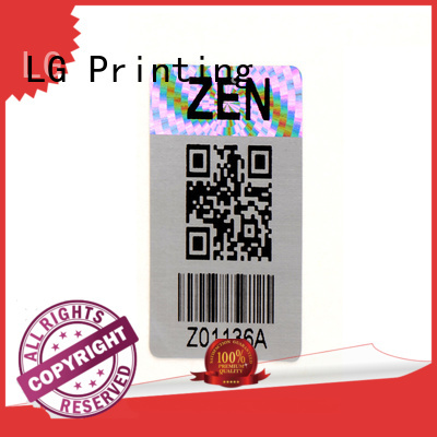 LG Printing qr custom hologram series for box