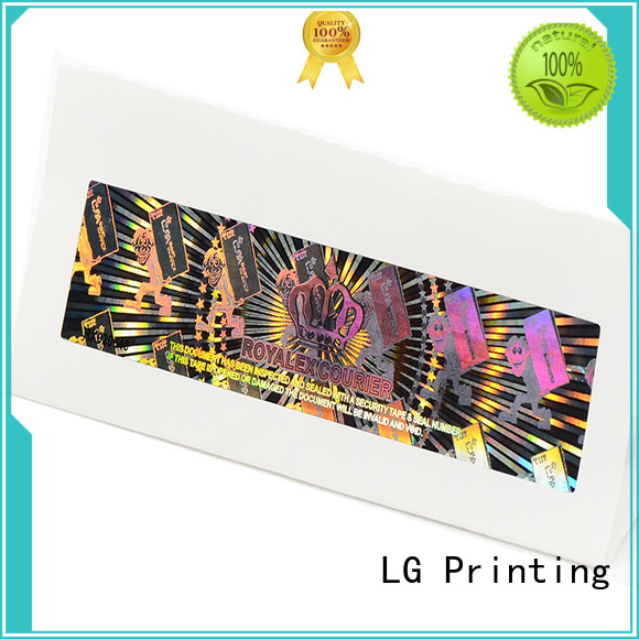 LG Printing numbering hologram printing logo for table