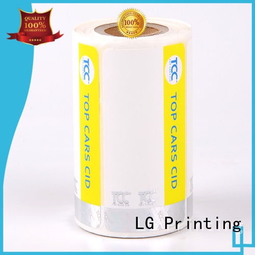 security hologram labels anti-fake stickers security hologram LG Printing Brand