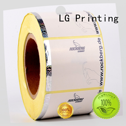 PE clear security stickers supplier for bag LG Printing