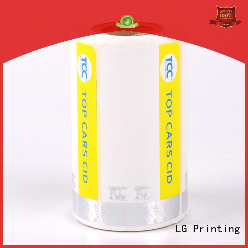randomly security system stickers PVC manufacturer for box