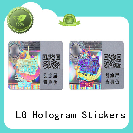 LG Printing scratched custom sticker printing label for refrigerator