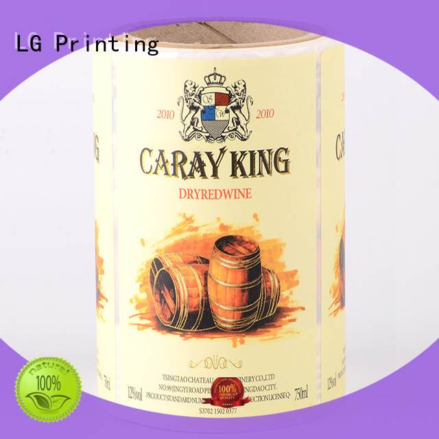 LG Printing printing custom sticker labels supplier for wine bottle