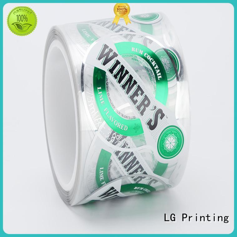 waterproofvinyl labels pvc supplierfor jars