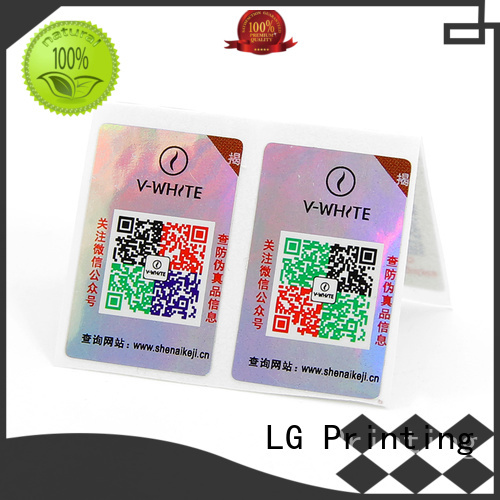 LG Printing sticker labels for clothes Supply for bag