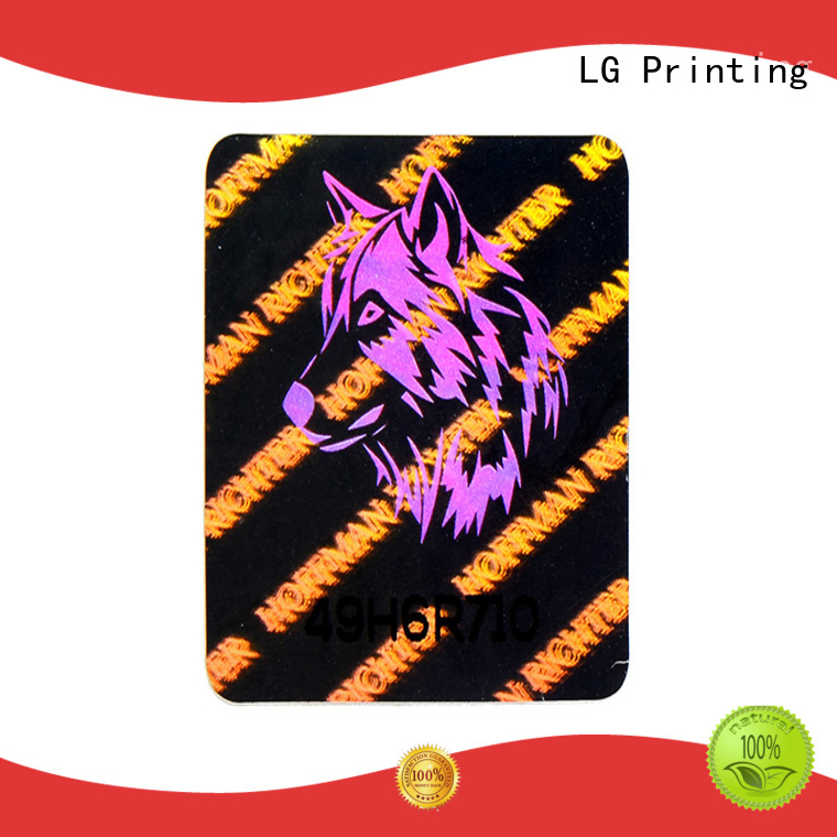 round clear holographic sticker paper series for refrigerator LG Printing