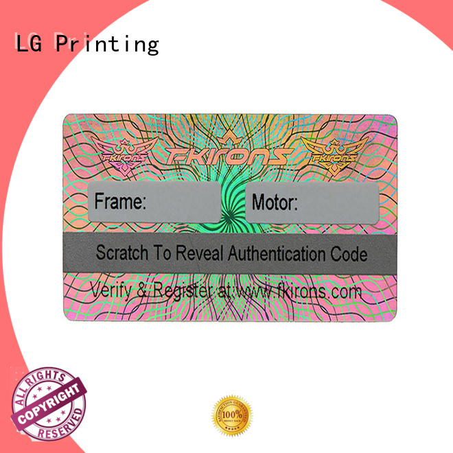 LG Printing silver qr codes on labels & stickers label for refrigerator