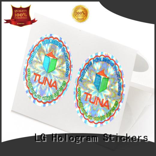 round hologramm sticker barcode manufacturer for box