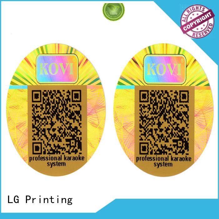label printing custom shape LG Printing Brand 3d hologram sticker factory