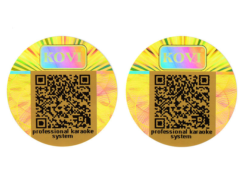 scratched hologram printing barcode label for refrigerator-1