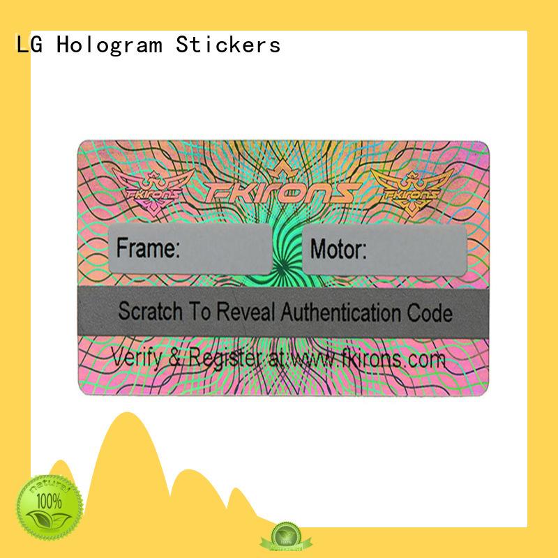 LG Printing hologram holograms for sale label for box