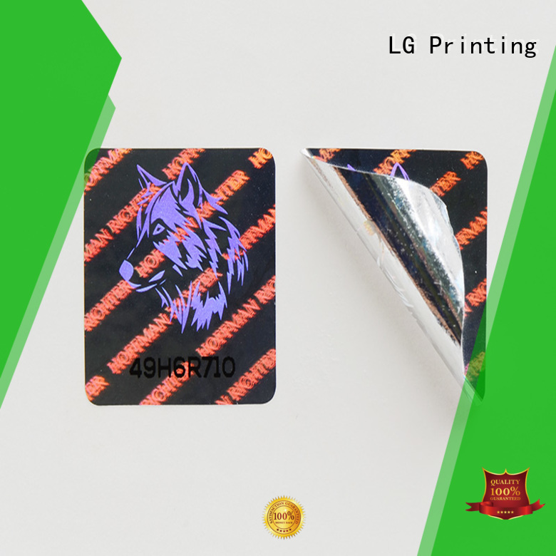 LG Printing Brand triangle security customized thickness 3d hologram sticker transparent