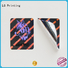 Quality LG Printing Brand rectangle hologram sticker