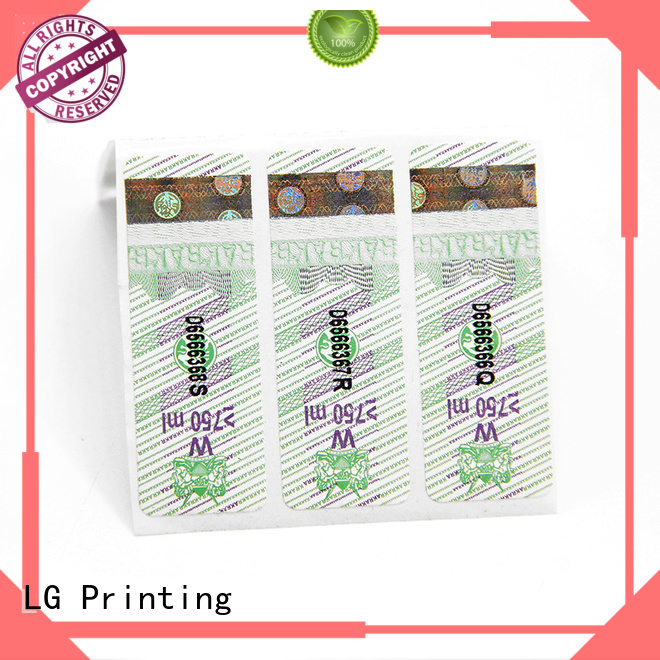 LG Printing metal labels Supply for box