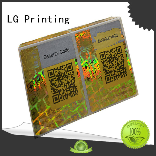 LG Printing scratched holographic card series for box