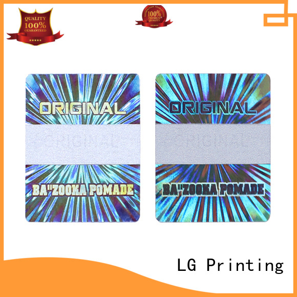 LG Printing gold inventory sticker labels logo for table