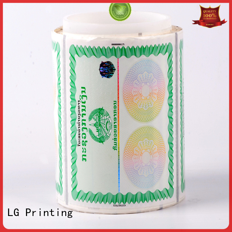 anti-fake Custom silver security hologram serial number LG Printing