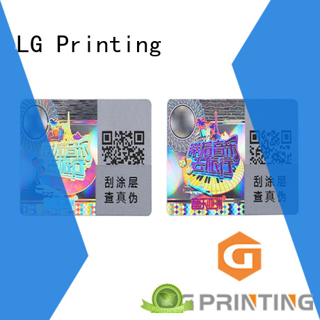 LG Printing golden waterproof sticker logo for refrigerator