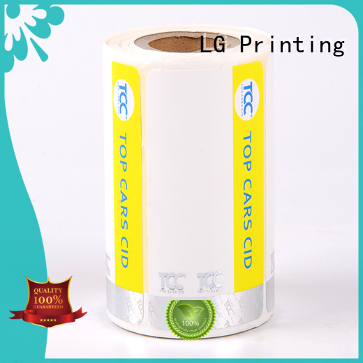 LG Printing PVC custom hologram stickers series for bag